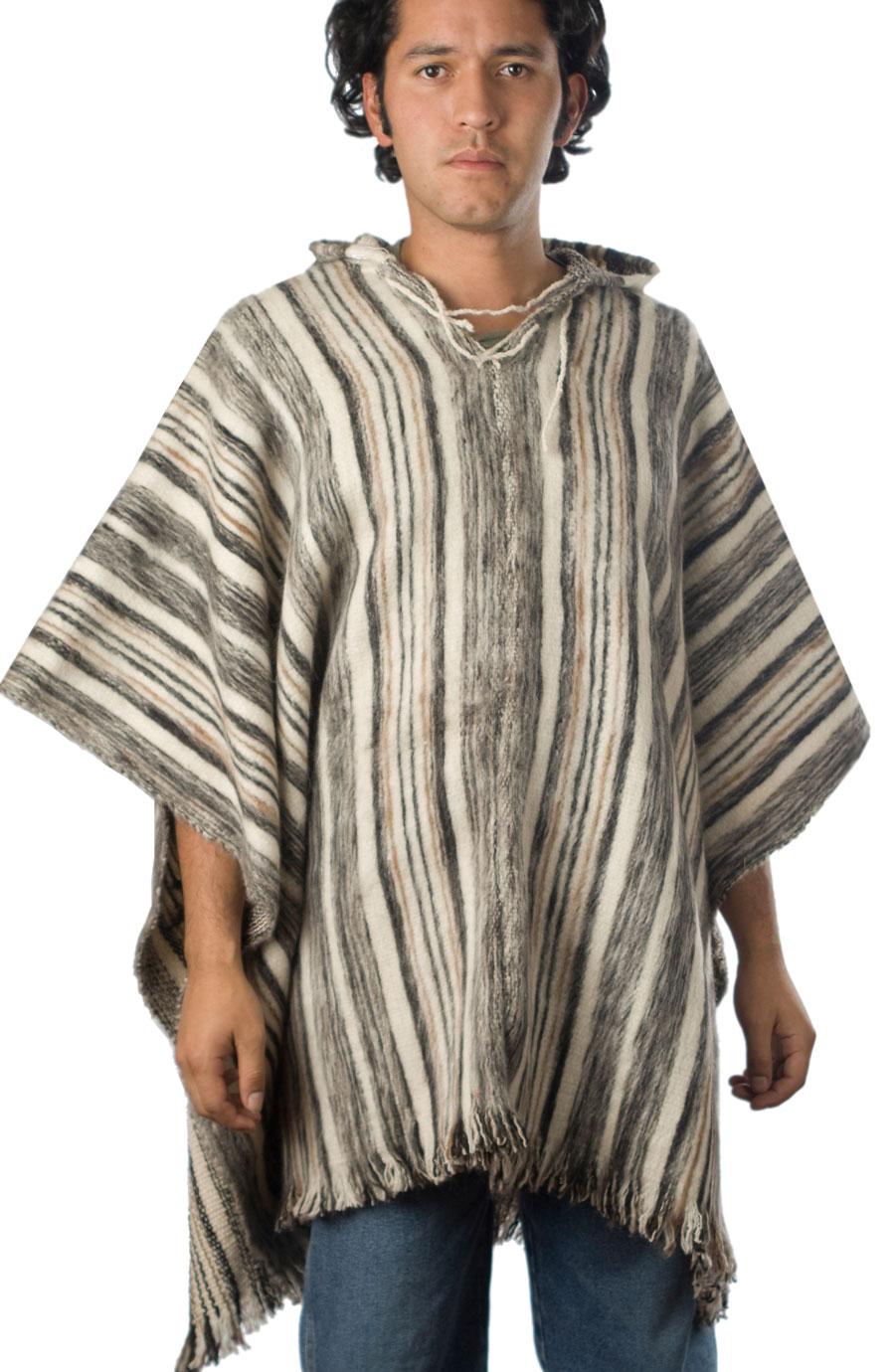 Alpaca Hooded Wool Poncho